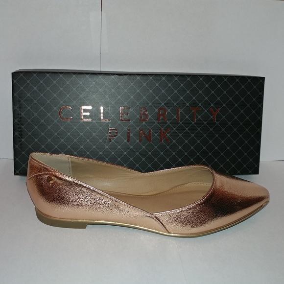 e824096d7fe8 Rose Gold - Pointy Toe Cutout Flat